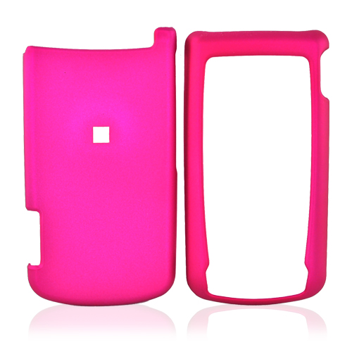 Motorola i890 Rubberized Hard Case - Rose Pink