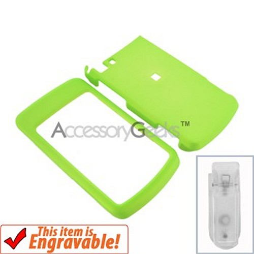 Motorola Stature i9 Rubberized Hard Case - Neon Green