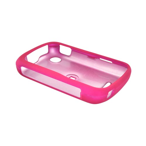Motorola QX404 Rubberized Hard Case - Hot Pink