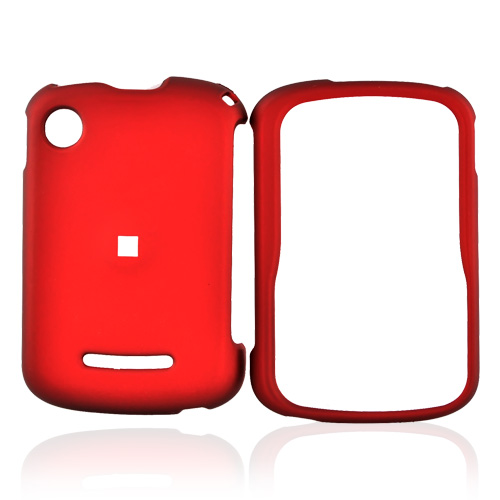 Motorola QX404 Rubberized Hard Case - Red