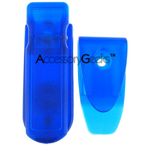 Motorola V195 Rubberized Hard Case w/ Clip - Honey Blue