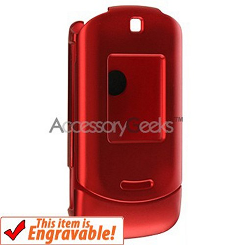 Motorola MotoRAZR VE20 Rubberized Hard Case - Red