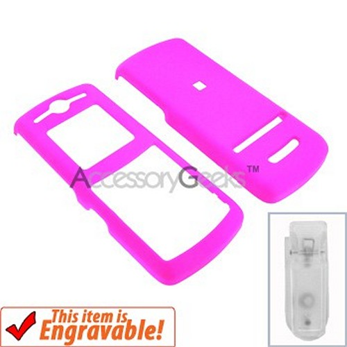 Motorola VE240 Rubberized Hard Case - Hot Pink
