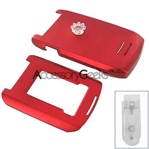 Motorola RAZR MAXX Ve Rubberized Protective Hard Case - Red