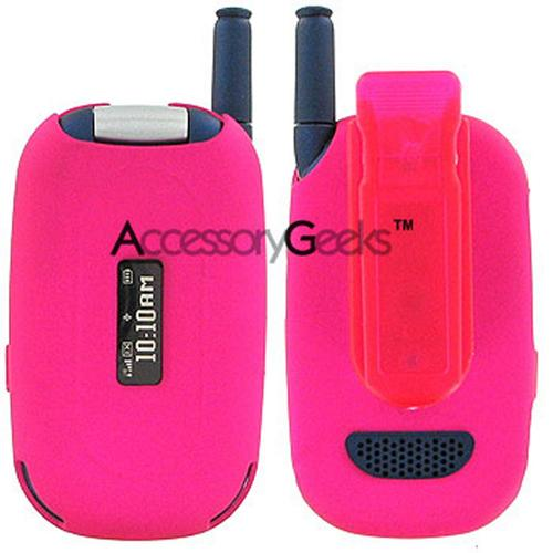 Motorola W315 Rubberized Protective Case - Hot Pink
