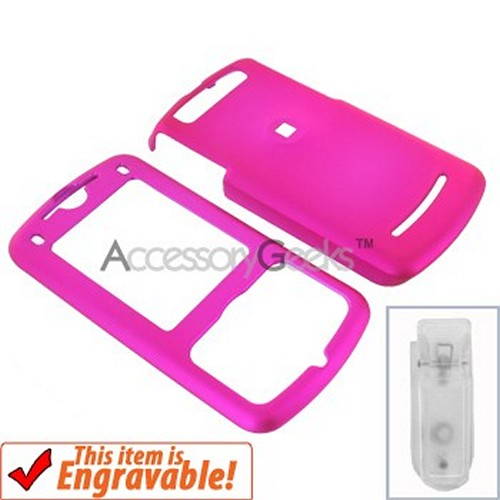 Motorola Z9 Rubberized Hard Case - Hot Pink