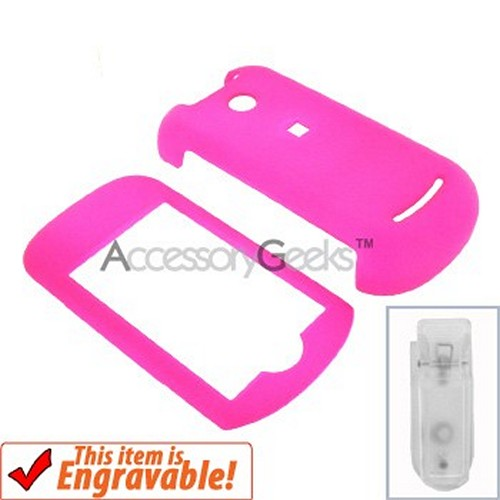 Motorola Krave Rubberized Hard Case - Hot Pink