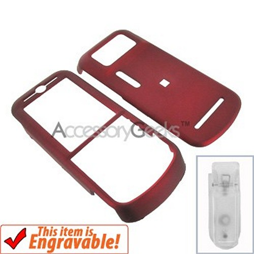 Motorola Zine Rubberized Hard Case - Red