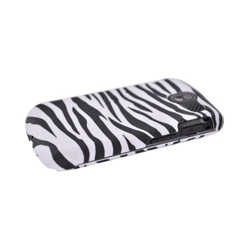 Pantech Crux 8999 Rubberized Hard Case - Black/ White Zebra