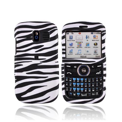 Pantech Link P7040 Rubberized Hard Case - Black/White Zebra