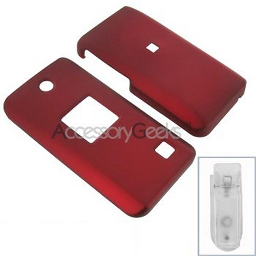 AT&T Pantech C610 Rubberized Hard Case - Red