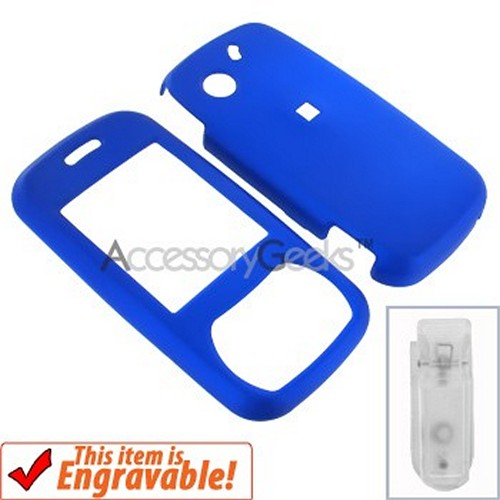 Pantech Matrix Rubberized Hard Case - Blue
