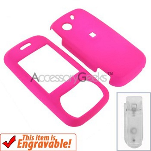 Pantech Matrix Rubberized Hard Case - Hot Pink