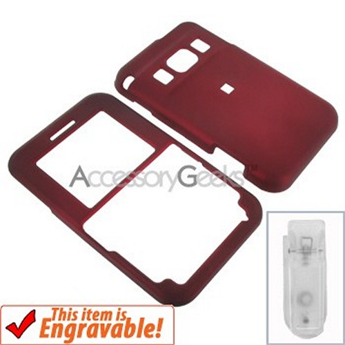 Pantech Slate Rubberized Hard Case - Red