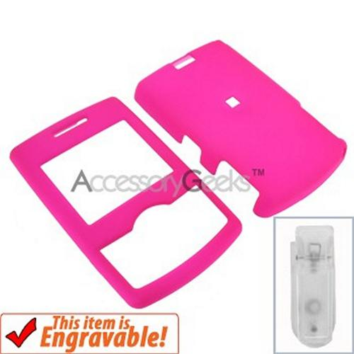 Samsung Propel Rubberized Hard Case - Hot Pink