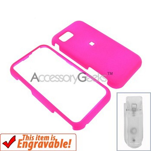 Samsung Eternity Rubberized Hard Case - Hot Pink