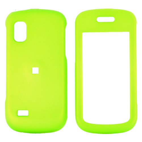 Samsung Solstice A887 Rubberized Hard Case - Neon Green