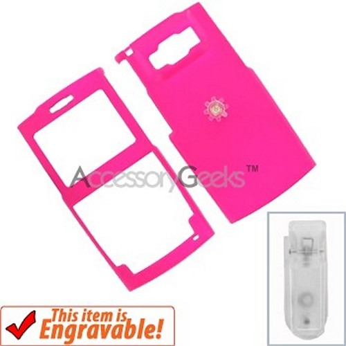 Samsung Ace Rubberized Hard Case - Hot Pink