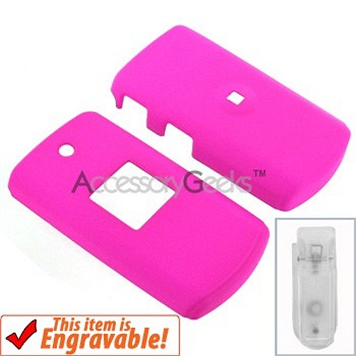 Samsung M320 Rubberized Hard Case - Hot Pink
