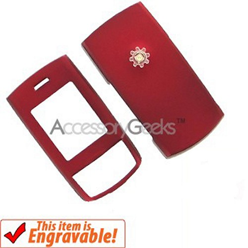 Samsung M520 Rubberized Hard Case - Red