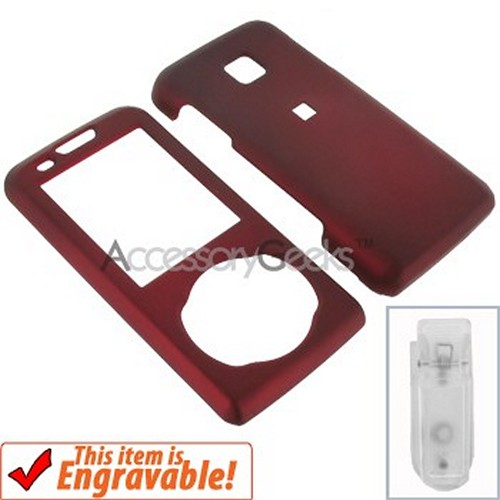 Samsung Highnote Rubberized Hard Case - Red