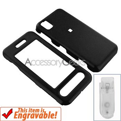 Samsung Instinct Rubberized Hard Case with Belt Clip - Black