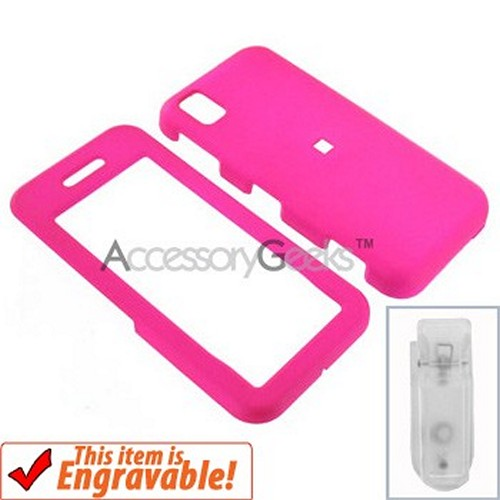 Samsung Instinct Rubberized Hard Case - Hot Pink