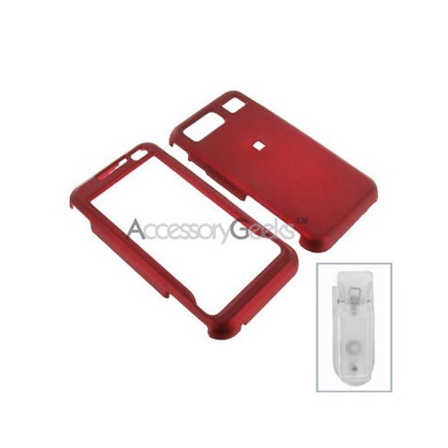 Samsung Omnia Rubberized Hard Case - Red