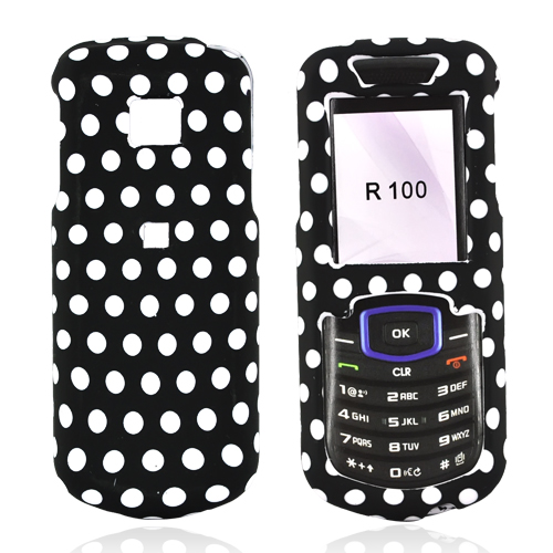 Samsung Stunt R100 Rubberized Hard Case - Polka Dots