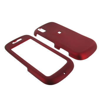 Samsung Instinct S30 Rubberized Hard Case - Red