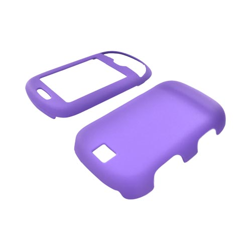 Samsung :) Smiley T359 Rubberized Hard Case - Purple