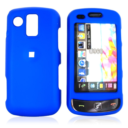 Samsung Rogue U960 Rubberized Hard Case - Blue