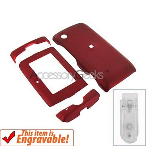 T-Mobile SideKick 4 2008 Rubberized Hard Case - Red