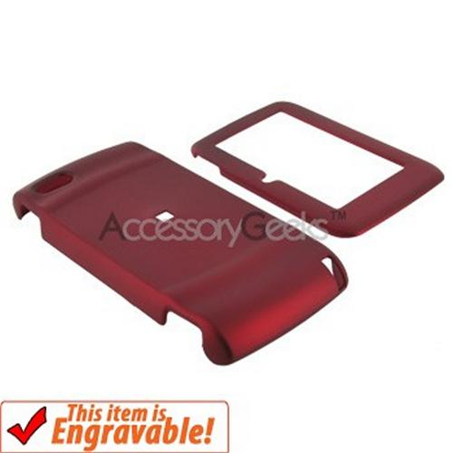 T-Mobile Sidekick LX2009 Rubberized Hard Case - Red