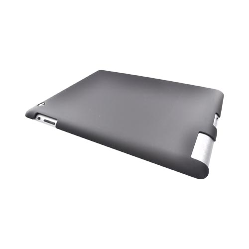 Apple iPad 2nd Gen Rubberized Hard Back Cover Case - Black