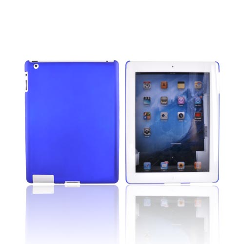 Apple iPad 2nd Gen Rubberized Back Cover Case - Blue