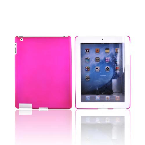 Apple iPad 2nd Gen Rubberized Hard Back Cover Case - Rose Pink