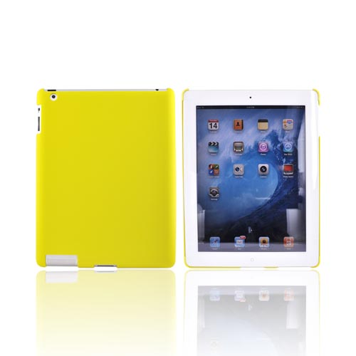 Apple iPad 2nd Gen Rubberized Hard Back Cover Case - Yellow