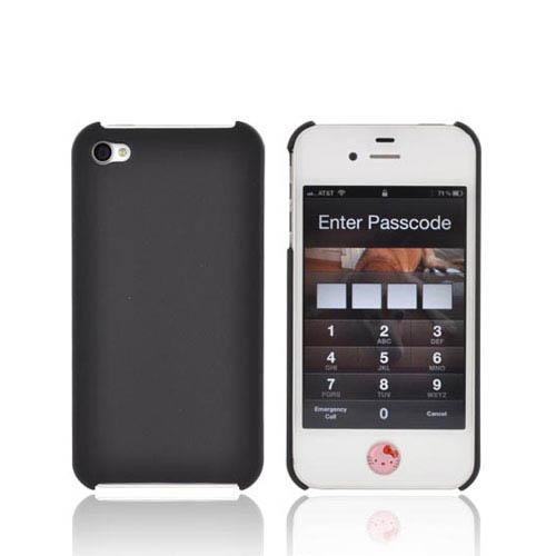Apple iPhone 4/4S Rubberized Back Cover - Black