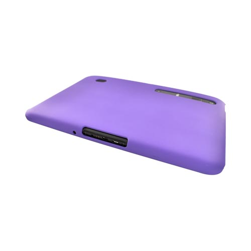 Motorola Xoom Rubberized Hard Back Cover Case - Purple