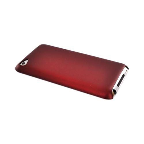 Luxmo Apple iPod Touch 4 Rubberized Back Cover Case - Red