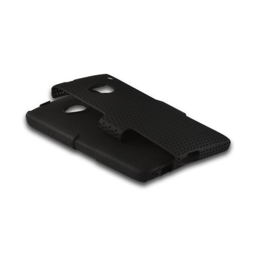 Black Mesh on Black Silicone Hybrid Case for HTC One