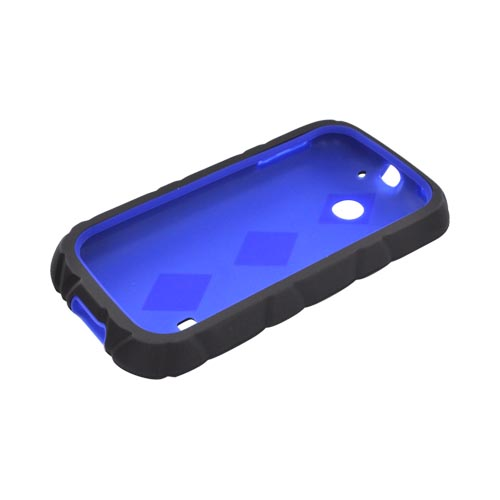Huawei Ascend 2/ Prism/ Summit M865 Hard Case w/ Silicone Case - Black/ Blue
