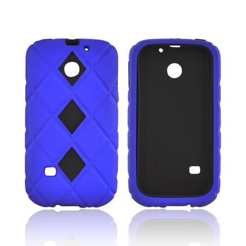 Huawei Ascend 2 M865 Hard Case w/ Silicone Case - Blue/ Black