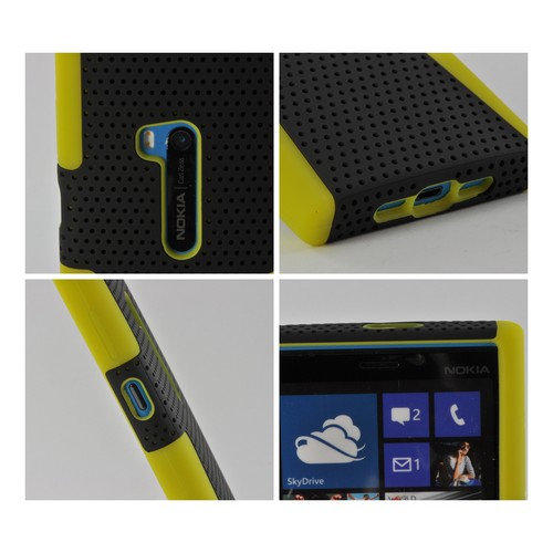 Black Mesh on Yellow Silicone for Nokia Lumia 920
