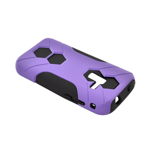 Samsung Conquer 4G Rubberized Hard on Silicone Case - Purple/ Black