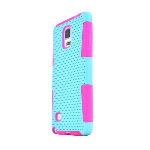 Samsung Galaxy Note 4 Case, [Mint] Rubberized Mesh Slim & Protective Rubberized Matte Finish Snap-on Hard Polycarbonate Plastic Case Cover