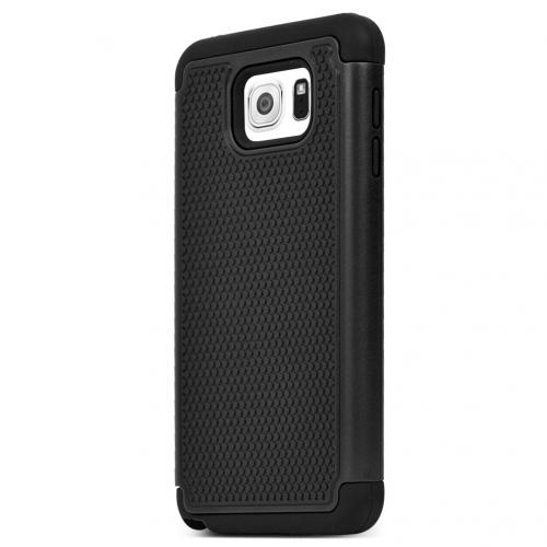 Samsung Galaxy Note 5, [Black]  Supreme Protection Rubberized Matte Plastic on Silicone Dual Layer Hybrid Case