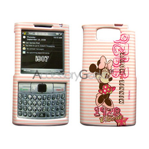 MOBO Disney Licensed Samsung Epix Hard Case - Minni Mouse on White/Pink Stripes