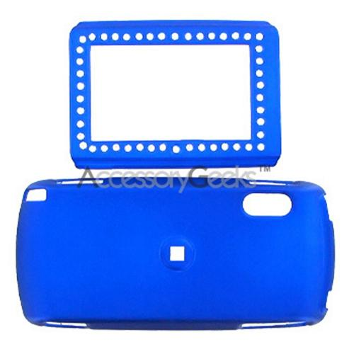 SideKick LX Rubberized Hard Case w/ Gem & Belt Clip - Blue